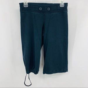 Lululemon Black Dance Drawstring Leg Crop Pants